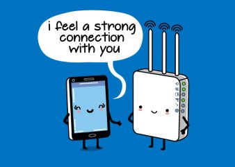 Strong Connection Wifi Mobile Funny Design buy t shirt design
