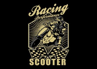 scooter racing t shirt template vector