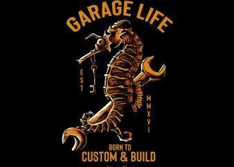 Garage Life buy t shirt design