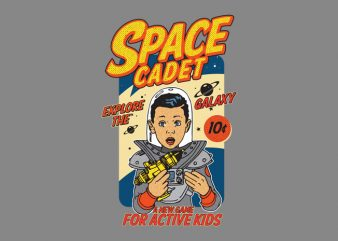 space cadet t shirt template vector