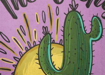 The Cactus Club t shirt vector