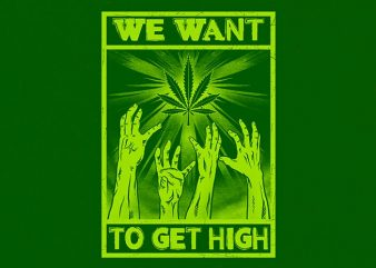 high zombies Graphic t-shirt design