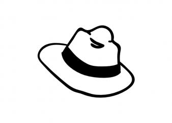 Adventure hat travel symbol minimal vector graphic t shirt design buy t shirt design