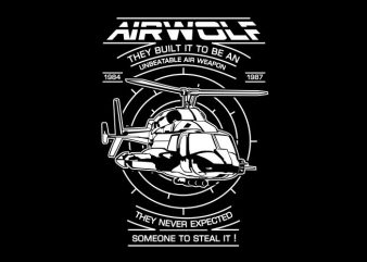 Air Wolf buy t shirt design