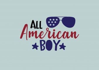 All American Boy t shirt vector