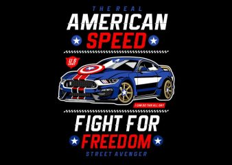 American Speed t shirt vector