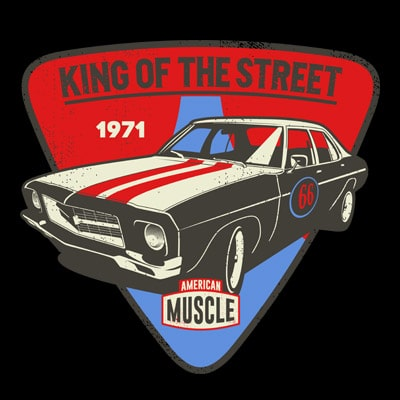 KING OF THE STREET t shirt vector art