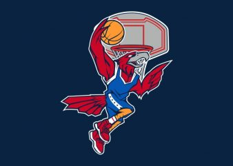 BASKETBALL EAGLE t shirt template