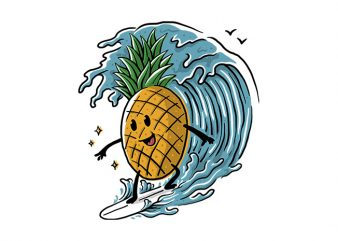 Pineapple Surfing buy t shirt design