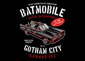 Batmobile t shirt template