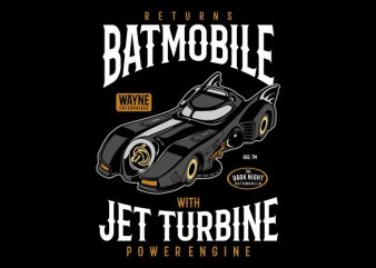 Batmobile Returns t shirt template