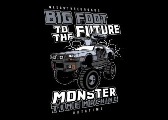 Big Foot To The Future t shirt template