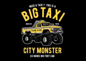 Big Taxi t shirt template