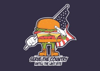 Burger Patriot t shirt template