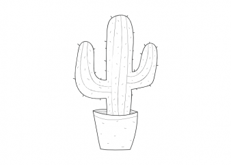 Cactus minimal plant tattoo vector graphic t shirt design buy t shirt design