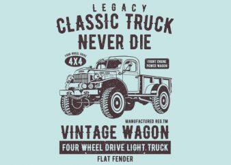 Classic Truck Vector t-shirt design buy t shirt design