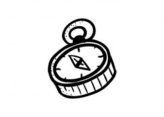 Compass t shirt vector file