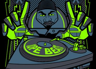DOPE BEAT t shirt vector illustration