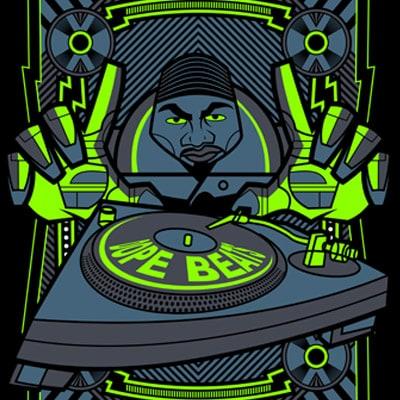DOPE BEAT t shirt vector illustration