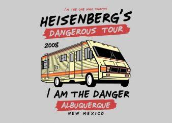 Dangerous Tour t shirt vector illustration