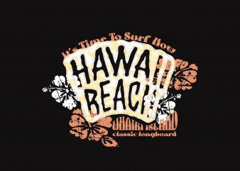 Hawai Beach Surfer t shirt template