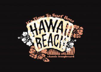 Hawai Beach Surfer buy t shirt design