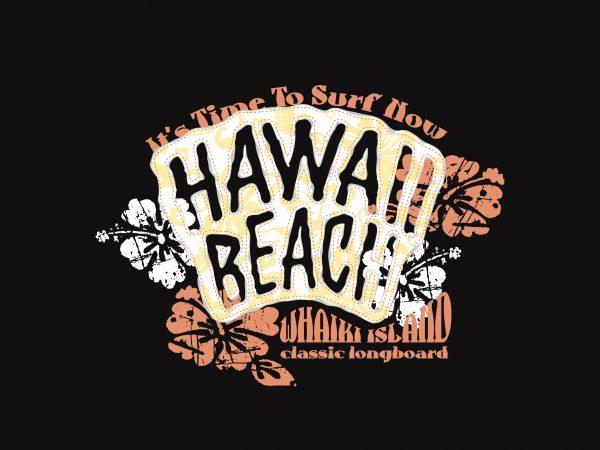 Hawai Beach Surfer graphic t shirt