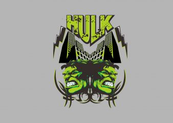 Double Hulk t shirt vector illustration