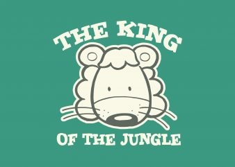 King Of The Jungle t shirt vector art