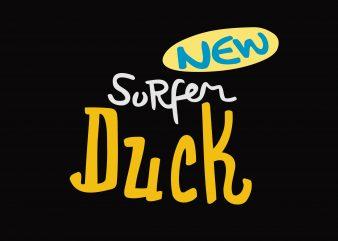 New Surfer Dcck t shirt vector artwork