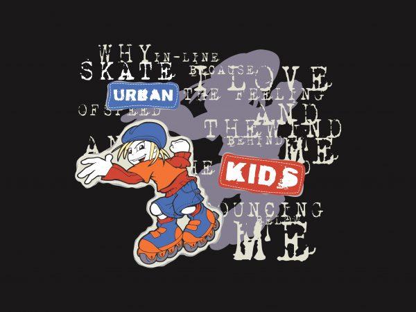 Urban Kids t shirt vector graphic