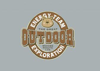 Energy Team Outdoor buy t shirt design