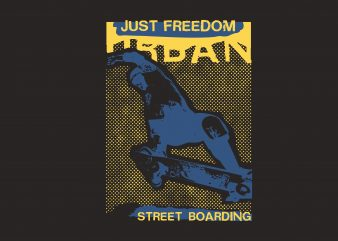 Freedom Street Boarding t shirt graphic design