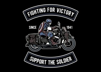 Fighting For Victory buy t shirt design
