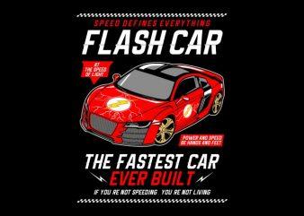 Flash Car t shirt graphic design
