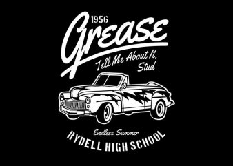 Grease t shirt design template