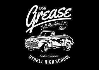 Grease buy t shirt design