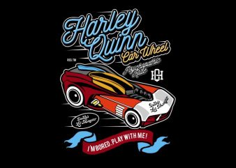 Harley Quinn Car Wheel graphic t shirt