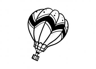 Hot air ballon travel wanderlust adventure vector t shirt printing design