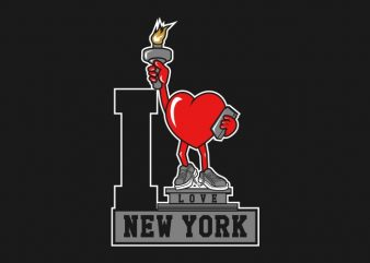 I Love NewYork t shirt design for sale