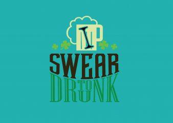 I Swear To Drink Beer buy t shirt design