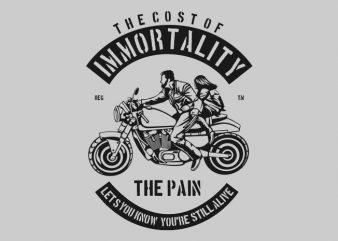 Immortality buy t shirt design