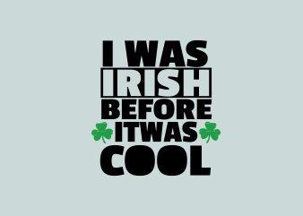 Irish Cool t shirt design for sale