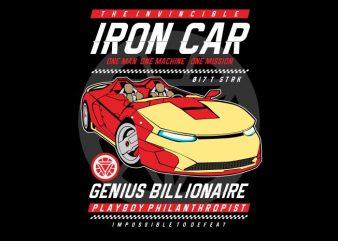 Iron Car buy t shirt design