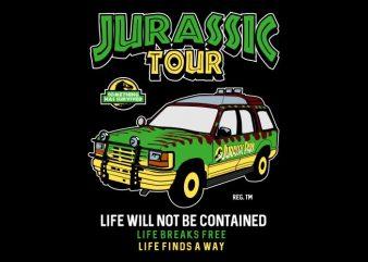 Jurassic Tour t shirt vector