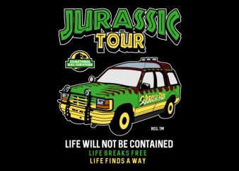 Jurassic Tour vector clipart
