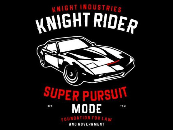 Knight Rider t shirt vector art