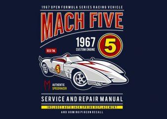 Mach Five buy t shirt design
