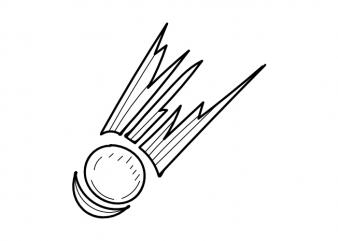 Meteor comet star space minimal tattoo vector t shirt printing design