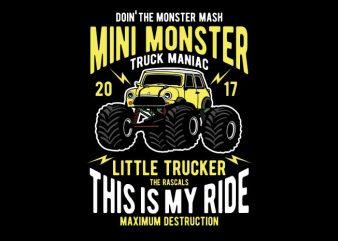 Mini Monster buy t shirt design